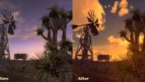 Изменение текстур облаков и небосвода