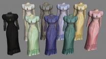 Викторианское кружевное платье