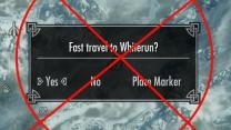 No fast travel for Skyrim