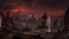 Творческое изображение - Вид на Красную Гору в провинции Морровинд