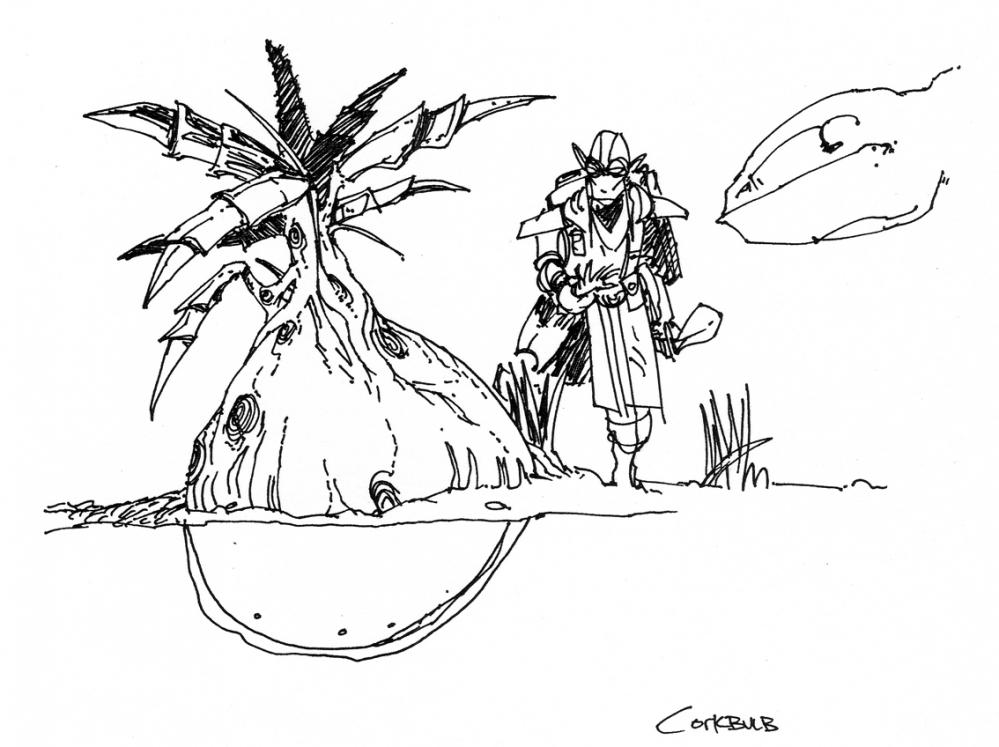 Корень пробочника (арт Майкла Киркбрайда)