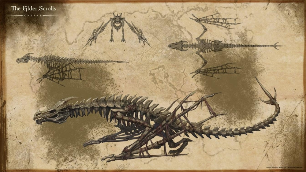 Концепт костяного дракона
