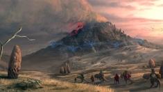 Творческое изображение - Красная гора / Red Mountain (Morrowind) .