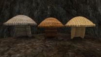 Три плетёных шляпы