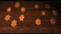 Новогодние украшения и снежинки