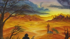 Творческое изображение - Пустынный пейзаж