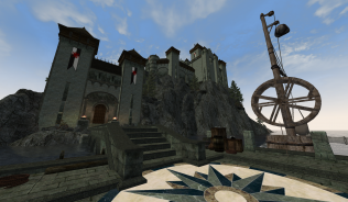 Вид на замок с пристани