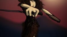 Творческое изображение - Охота под красным светом луны