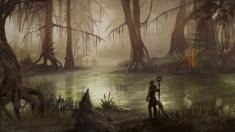 Творческое изображение - Аргонианин в болотах Чернотопья