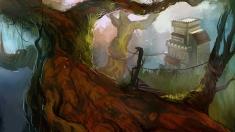 Творческое изображение - Тенистый лес