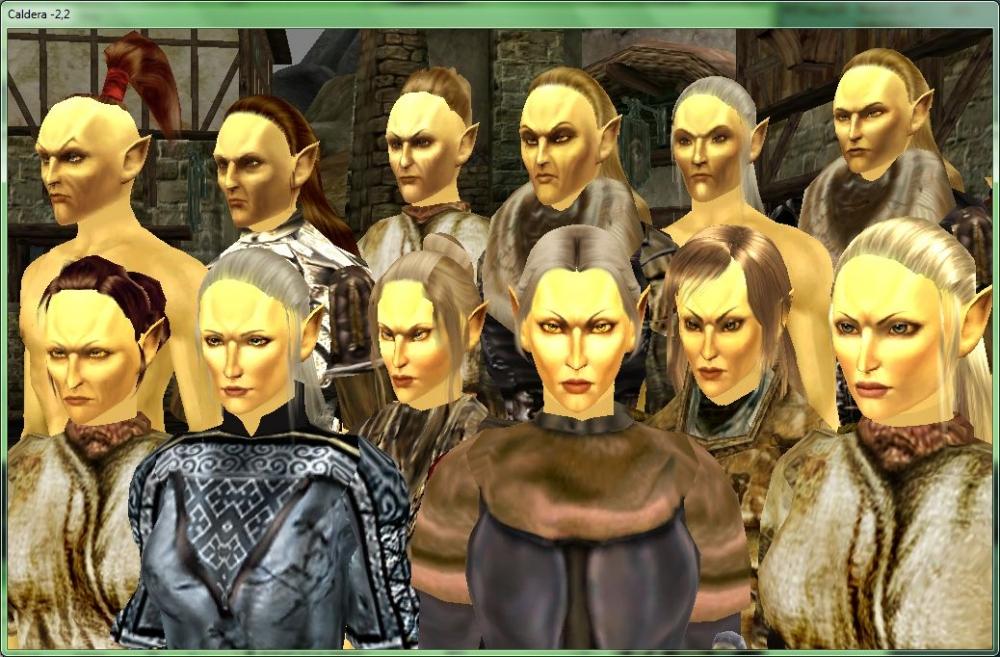 Головы mackom'a с причёсками на телах robert'a