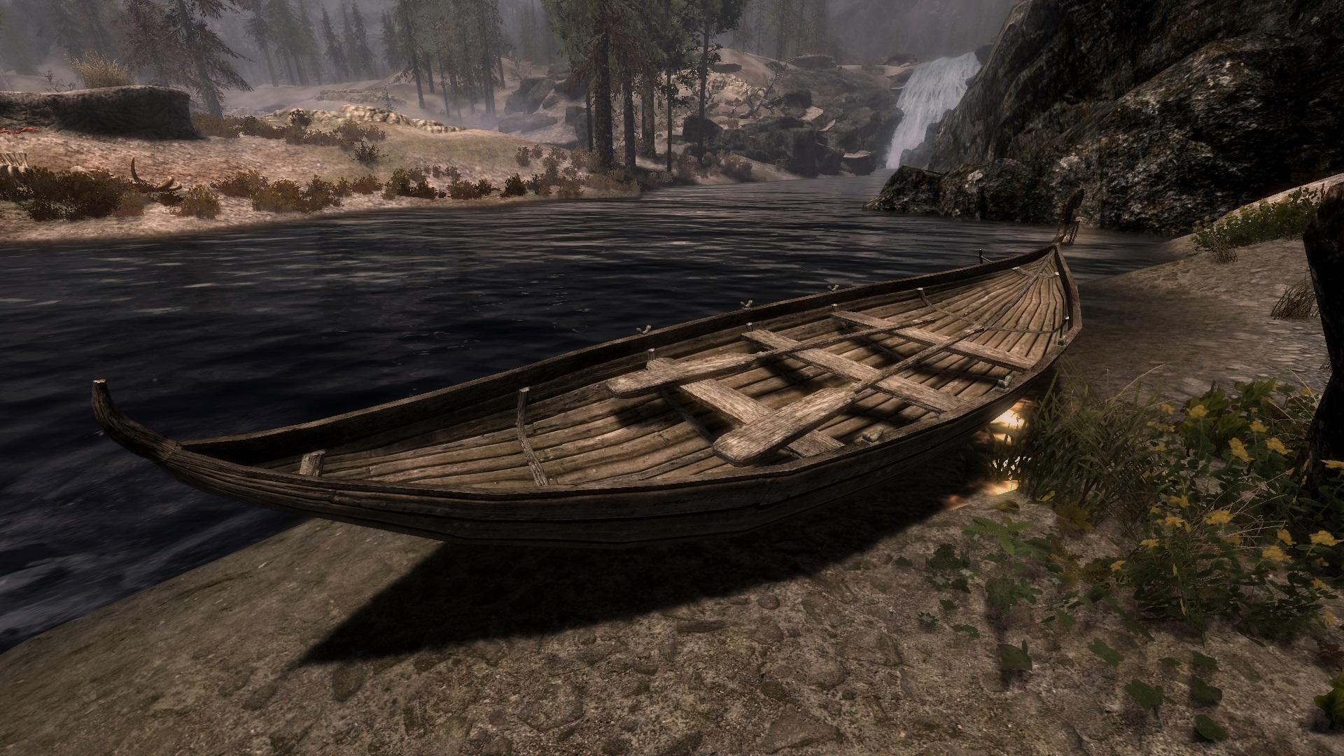 управляемая лодка для скайрим