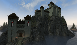 Вид на замок с маяка